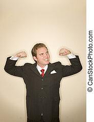 hombre, postura, empresa / negocio, potencia, 6