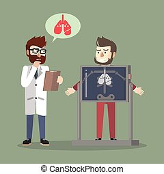 hombre, pulmón, arriba, empresa / negocio, cheque