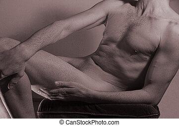 hombre, torso