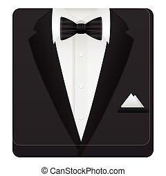 hombre, traje, icono