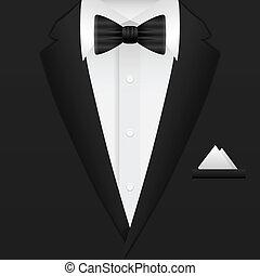 hombre, traje, plano de fondo