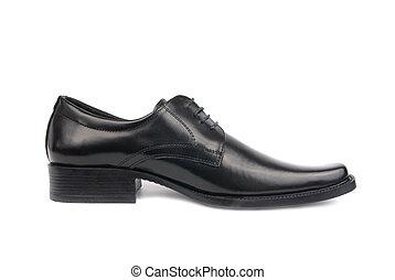 hombre, zapato negro