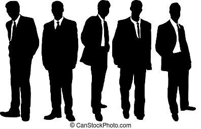 hombres de la corporación mercantil, casual