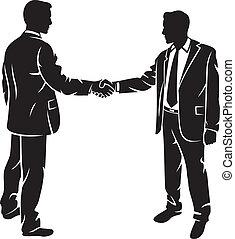 hombres de negocios, sacudarir las manos