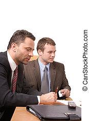 hombres, empresa / negocio