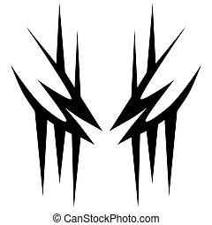 hombres, manga, arm., hombro, simple, fondo., tatuaje, patrón, arte, diseñador, aislado, vector, elemento, pierna, tribal, women., diseño, sketch., resumen, brazo, impresión, logotipo, blanco