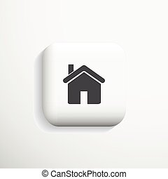 Home 3d Icon. Vector eps10.