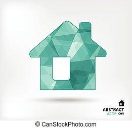 Home abstract vector icon geometric polygon