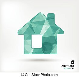 Home abstract vector icon geometric polygon