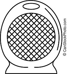 Home air heater fan icon, outline style