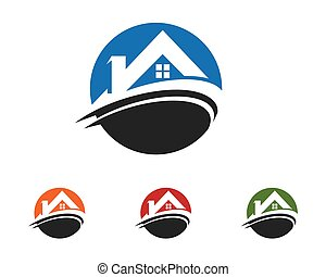 Property Logo Template - Home and Building Business Property...