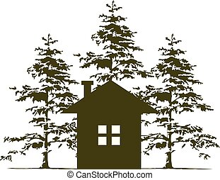Home and Cedar Tree