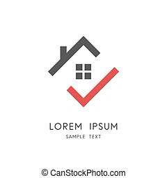 Home and check mark logo
