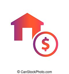 home and dollar money vector icon