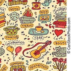 Home and family fun color pattern