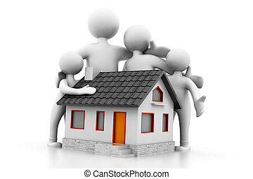 Home and family.( Real Estate concept)