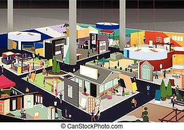 Home and Garden Trade Show Illustration - A vector...