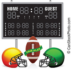 Home and Guest Scoreboard