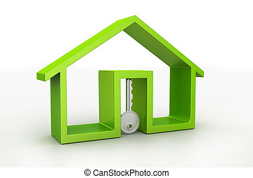 Home and key, house for rent concept