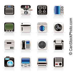 Home and Office, Equipment Icons - Vector Icon Set