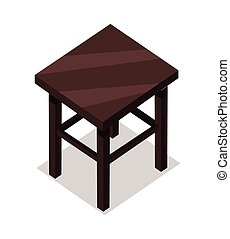 Home and Office Furniture in Isometric Projection