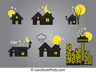home and real estate icon vector ba