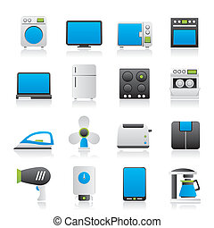 home appliance icons - vector icon set