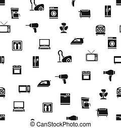 home appliance seamless pattern