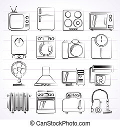 appliances and electronics icons