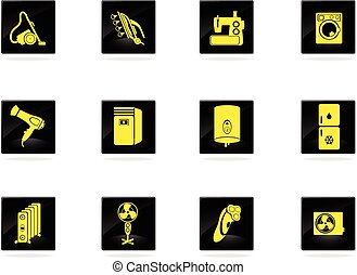 Home Appliances Icon Set