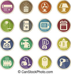 home appliances icon set - home appliances web icons for...
