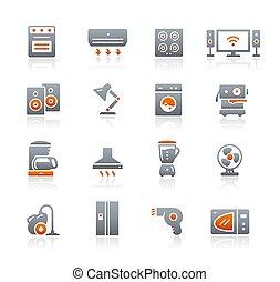 Home Appliances Icons // Graphite Series
