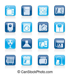home appliances icons - home appliances and electronics...
