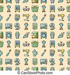 Home appliances icons set, eps10