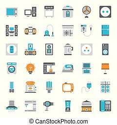 appliances - home appliances , pixel perfect flat icon,...