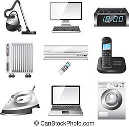 home appliances vector set - popular home appliances...