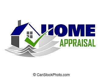 Home appraisal icon - Vector illustration of elegant Home...