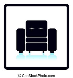 Home armchair icon