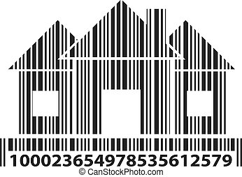 Home as barcode, vector illustration