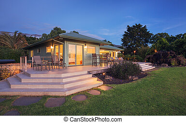 Home at Dusk - Beautiful home at sunset