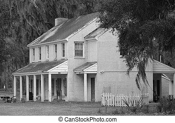 Home at Fort McAllister State Park - A reconstructed home ...
