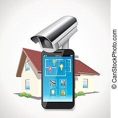 Home automation - cctv and mobile application on smartphone