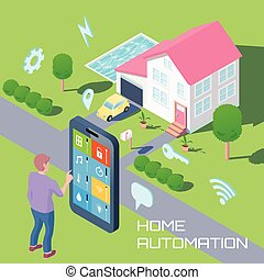 home automation design.  Home Automation Design Concept automation isometric Clipart and Stock Illustrations 2 518