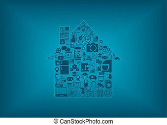 Home automation vector illustration
