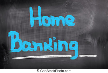 Home Banking Concept