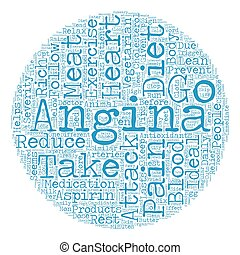 Home Based Remedy For Angina text background wordcloud concept