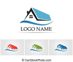 home buildings logo icons template