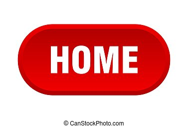 home button. home rounded red sign. home