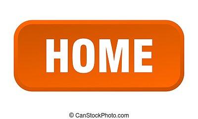 home button. home square 3d push button