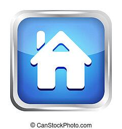 home button icon on a white